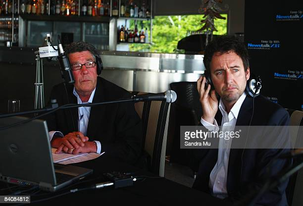 Radio broadcaster Paul Holmes talks with Mike Hosking who will be taking Holmes position during his last show as he completes 21 years as Newstalk ZB...