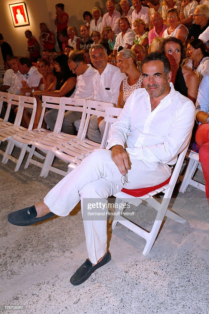 Radio Christopher Baldelli attends Magician Eric Antoine's show, 'Le mix sous les etoiles' on day 7 of the 29th Ramatuelle Festival on August 6, 2013 in Ramatuelle, France.