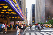 Radio City Music Hall entrance and Sixth Avenue