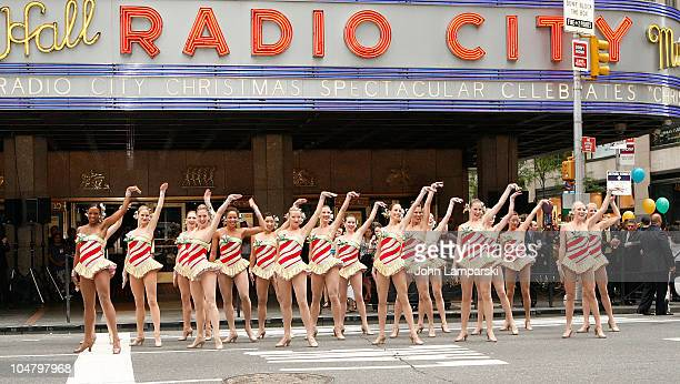 Radio City Rockettes perform during the 2010 Radio City Christmas Spectacular Kick Off at Radio City Music Hall on August 12 2010 in New York City