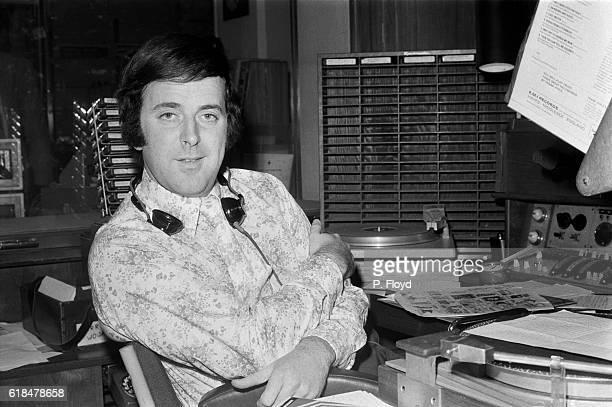 BBC Radio disc jockey Terry Wogan in a radio studio UK 23rd November 1971