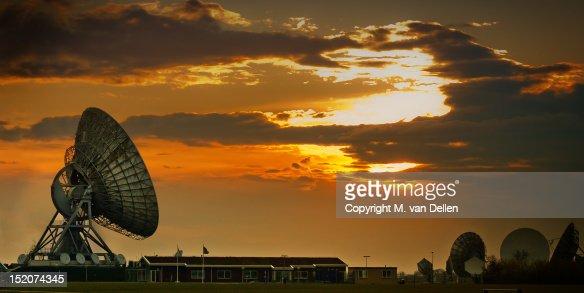 Radio dish antenna : Stock Photo