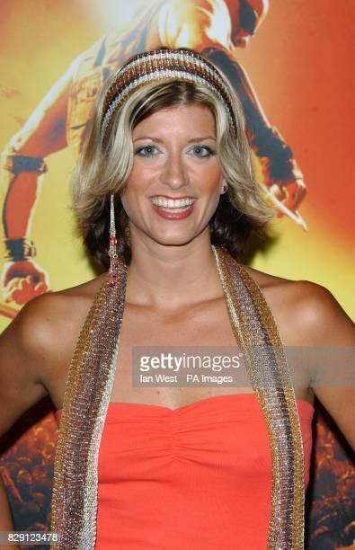 Radio DJ Caroline Feraday arrives for the premiere of The Chronicles Of Riddick at the Vue West End in Leicester Square central London