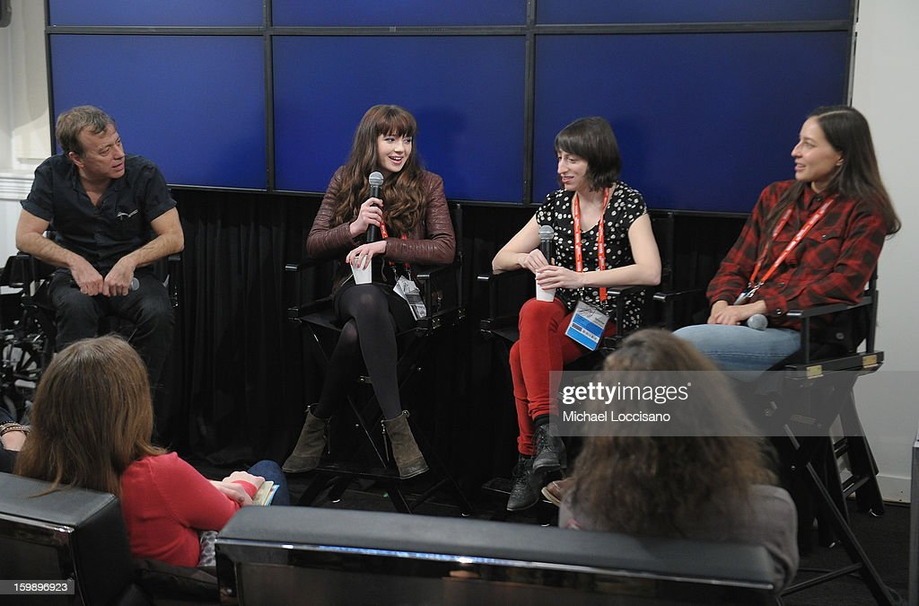 Radio DJ Chris Douridas, Actress Gina Piersanti, filmmaker Eliza Hittman and Producer Mariko Munro attend the Acura Master Class - Emerging Women in Independent Film on January 22, 2013 in Park City, Utah.