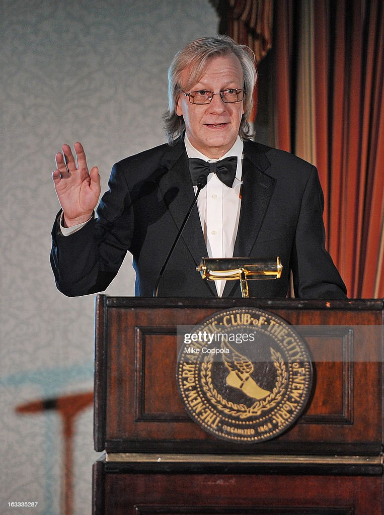 Radio dj Jim Kerr speaks at the Table 4 Writers Foundation 1st Annual Awards Gala on March 7, 2013 in New York City.