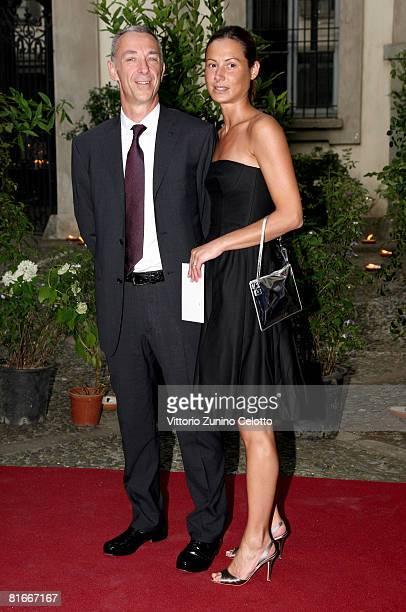 Radio DJ Linus and wife Carlotta Medas attend Uomo Vogue 40th Anniversary Celebration Party as part of Milan Fashion Week Menswear Spring/Summer 2009...