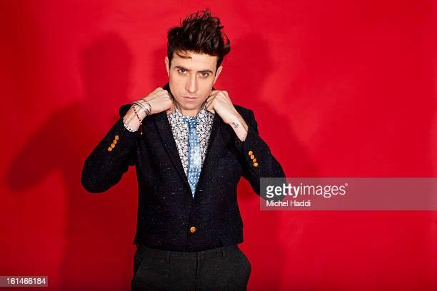 Radio DJ Nick Grimshaw is photographed for Topman magazine on October 27 2012 in London England