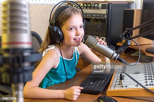 Radio DJ on air