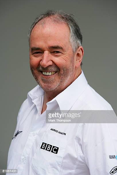 Radio Five Live reporter Maurice Hamilton is photographed in the paddock before the Turkish Formula One Grand Prix at Istanbul Park on May 11 in...