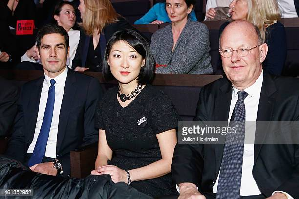 Radio France President Mathieu Gallet French Minister for Culture Fleur Pellerin and France Television President Remy Pflimlin attend 'Tous En Coeur...