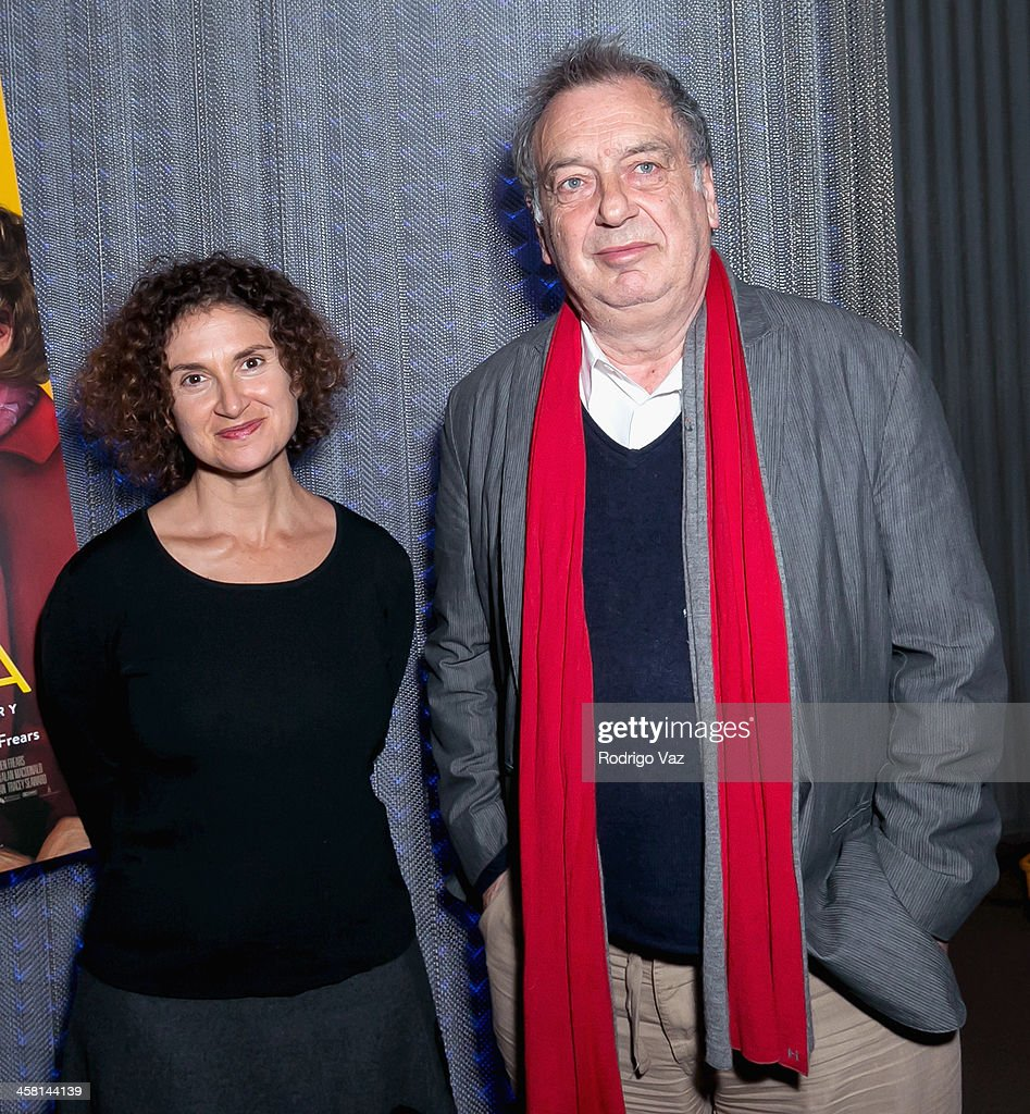 Radio host Alex Cohen (L) and director <a gi-track='captionPersonalityLinkClicked' href=/galleries/search?phrase=Stephen+Frears&family=editorial&specificpeople=238980 ng-click='$event.stopPropagation()'>Stephen Frears</a> attend the 'Philomena' Town Hall event and screening at Museum of Tolerance on December 19, 2013 in Los Angeles, California.