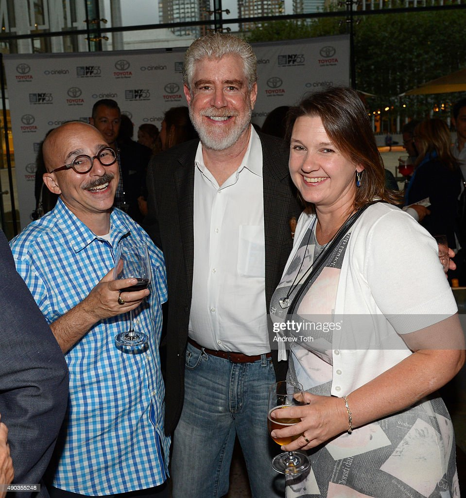 Radio Host Bob Garfield (C) attends the Convergence/Toyota Party during the 53rd New York Film Festival on September 27, 2015 in New York City.