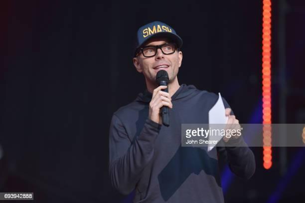 Radio Host Bobby Bones speaks onstage for day 1 of the 2017 CMA Music Festival on June 8 2017 in Nashville Tennessee