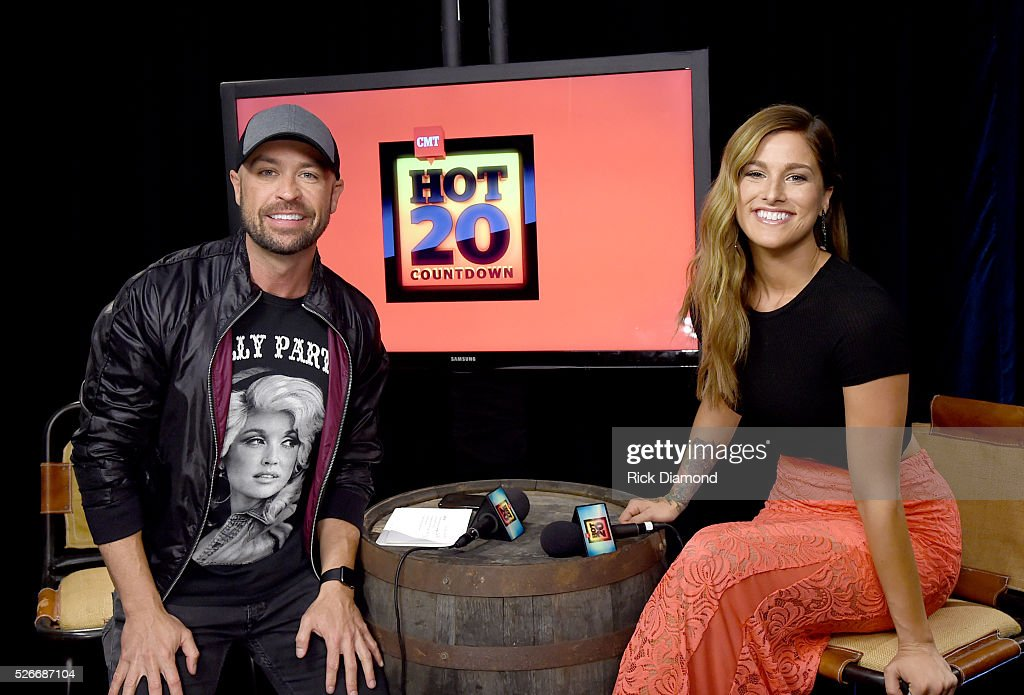 CMT radio host Cody Alan and singer Cassadee Pope attend the 2016 iHeartCountry Festival at The Frank Erwin Center on April 30, 2016 in Austin, Texas.