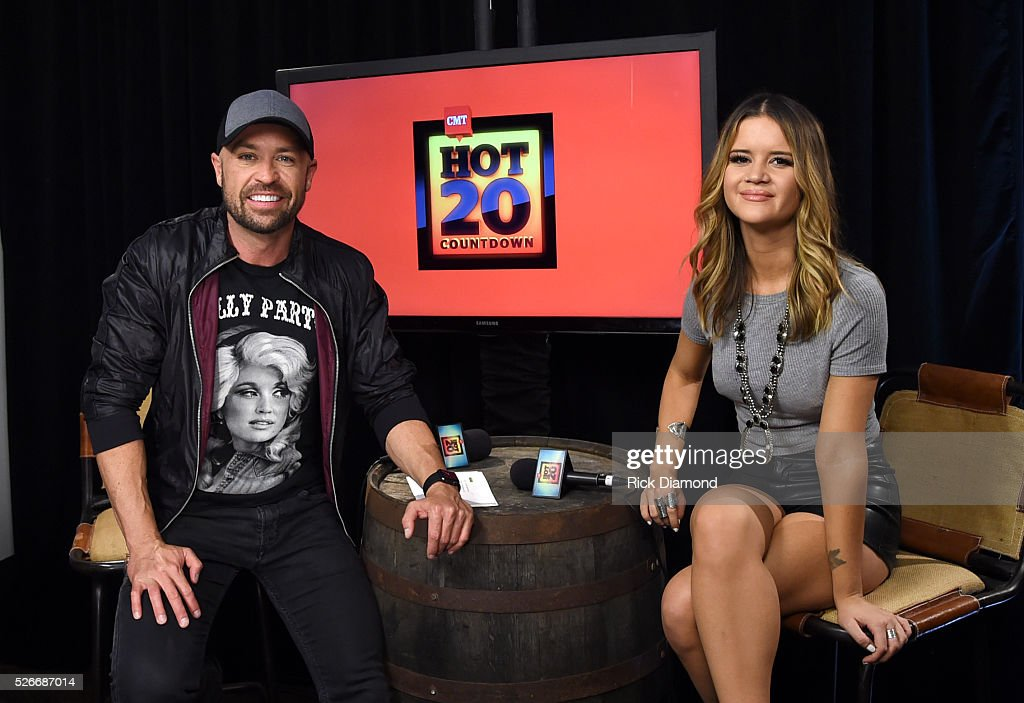 CMT radio host Cody Alan and singer <a gi-track='captionPersonalityLinkClicked' href=/galleries/search?phrase=Maren+Morris&family=editorial&specificpeople=9481209 ng-click='$event.stopPropagation()'>Maren Morris</a> attend the 2016 iHeartCountry Festival at The Frank Erwin Center on April 30, 2016 in Austin, Texas.