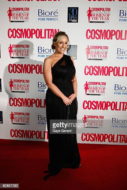 Radio Host Fifi Box arrives for the Cosmopolitan and Biore Fun Fearless Female Awards at Sydney Cafe on September 16 2008 in Sydney Australia