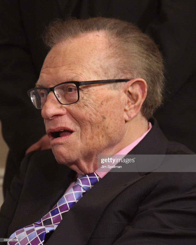Radio Host Larry King attends the Friars Club celebration of Jerry Lewis and the 50th Anniversary of 'The Nutty Professor' at New York Friars Club on June 5 ... - radio-host-larry-king-attends-the-friars-club-celebration-of-jerry-picture-id450132708