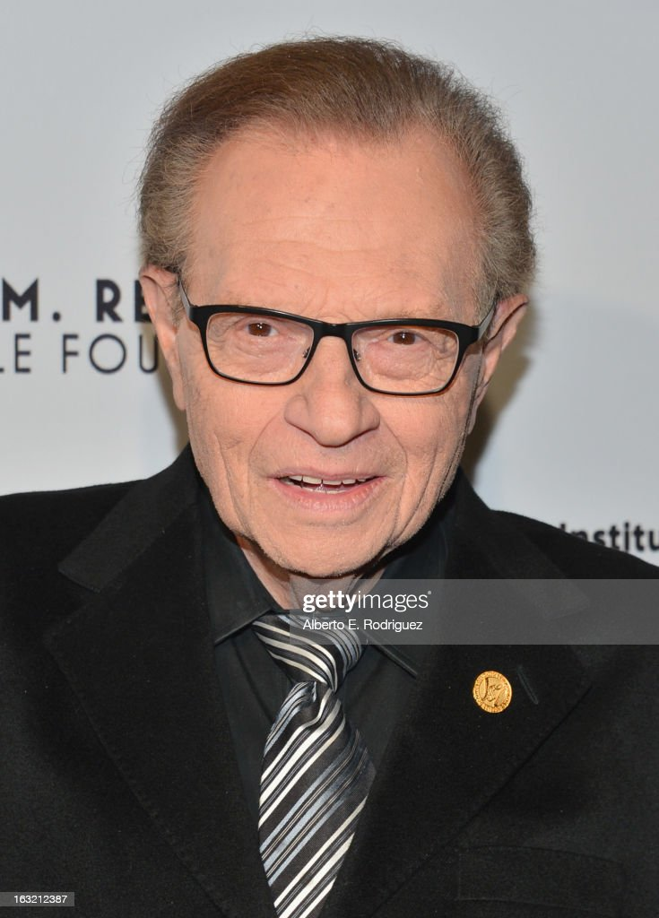 Radio host <a gi-track='captionPersonalityLinkClicked' href=/galleries/search?phrase=Larry+King&family=editorial&specificpeople=202014 ng-click='$event.stopPropagation()'>Larry King</a> attends the UCLA Institute Of The Environment And Sustainability's 2nd Annual Evening Of Environmental Excellence on March 5, 2013 in Beverly Hills, California.