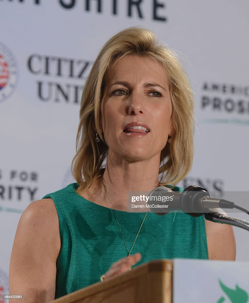 Radio host Laura Ingraham speaks at the Freedom Summit at The Executive Court Banquet Facility April 12, 2014 in Manchester, New Hampshire. The Freedom Summit held its inaugural event where national conservative leaders bring together grassroots activists on the eve of tax day. Photo by Darren McCollester/Getty Images)