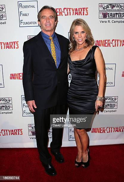 Radio host Robert F Kennedy Jr and actress Cheryl Hines attend the InnerCity Arts 2013 Imagine Gala at the Beverly Hilton Hotel on October 30 2013 in...
