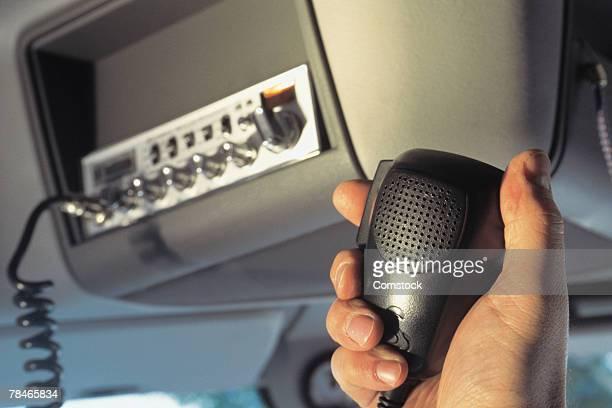 CB radio inside truck