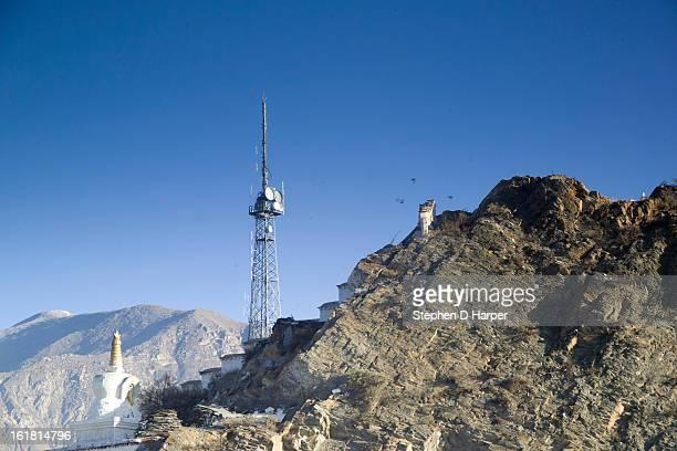 Radio mast in Lhasa