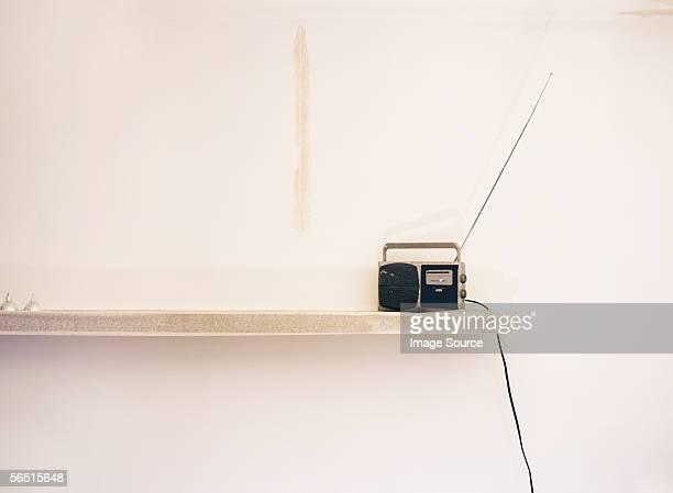 Radio on a shelf
