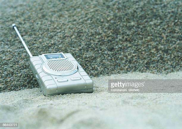 Radio on beach