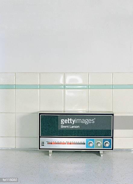Radio on kitchen counter