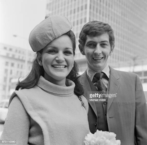 Radio One disc jockey Dave Cash marries his secretary Dawn Lane a former model at Marylebone Register Office in London 3rd May 1969