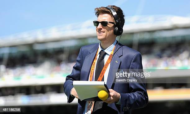 Radio One DJ Greg James ahead of day three of the 2nd Investec Ashes Test match between England and Australia at Lord's Cricket Ground on July 18...