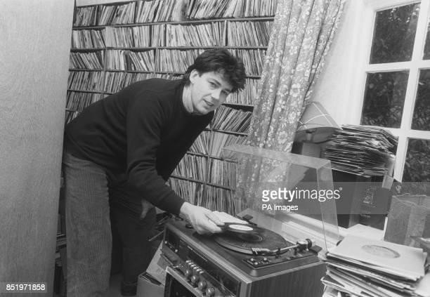 Radio One DJ Mike Read plays one of his favourite records at his VictorianGothic sevenbedroom Surrey mansion near Dorking Read who has spent three...