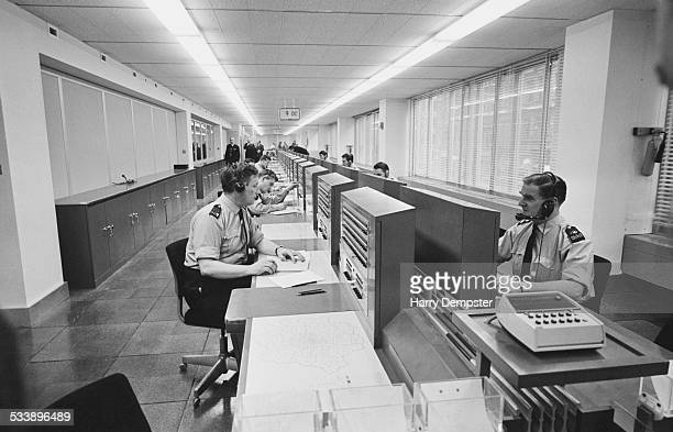 Radio operators in the Information Room at The New Scotland Yard building on Broadway London 13th February 1967 shortly after the headquarters of the...