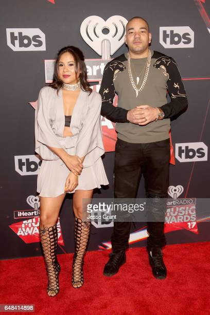 Radio personalities Angela Yee and DJ Envy of The Breakfast Club attend the 2017 iHeartRadio Music Awards which broadcast live on Turner's TBS TNT...