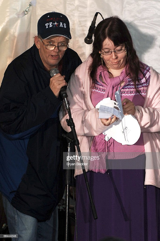 Radio Personalities Gary 'the Retard' Loudermilk and Wendy the Retard appear onstage during their last WXRK 'Howard Stern Show' December 16, 2005 in New York City.