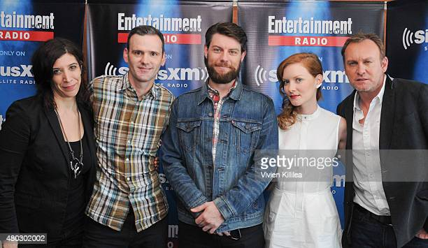 Radio personalities Jessica Shaw and Dalton Ross and actors Patrick Fugit Wrenn Schmidt and Philip Glenister attend SiriusXM's Entertainment Weekly...