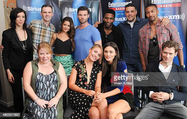 Radio personalities Jessica Shaw and Dalton Ross executive producer Julie Plec actors Danielle Campbell Daniel Gillies Leah Pipes Phoebe Tonkin and...