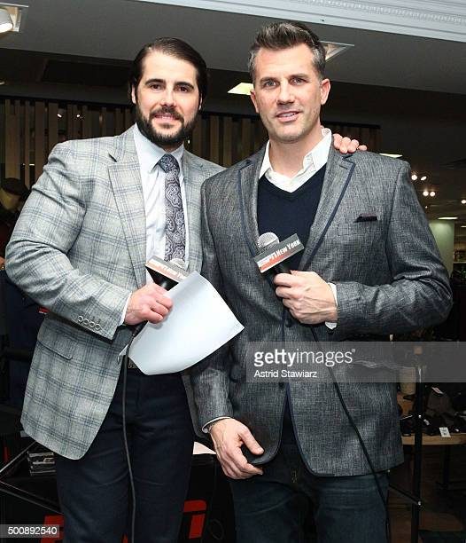 ESPN radio personalities Rick DiPietro and Alan Hahn attend Guys Night Out At Lord Taylor on December 10 2015 in New York City