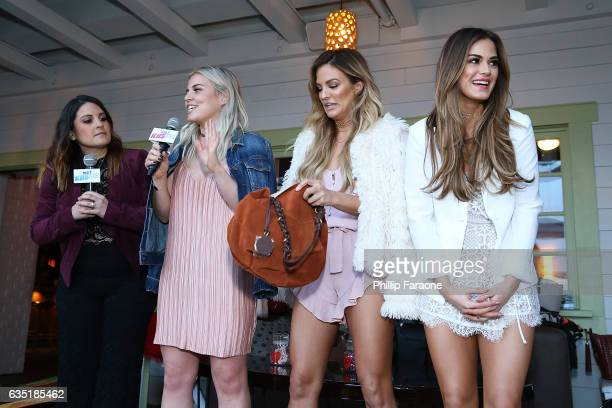 Radio personalities Sisanie Tanya Rad and Hosts Becca Tilley and Jojo Fletcher attend Ryan Seacrest's Purse Party Hosted at The Bungalow Huntington...