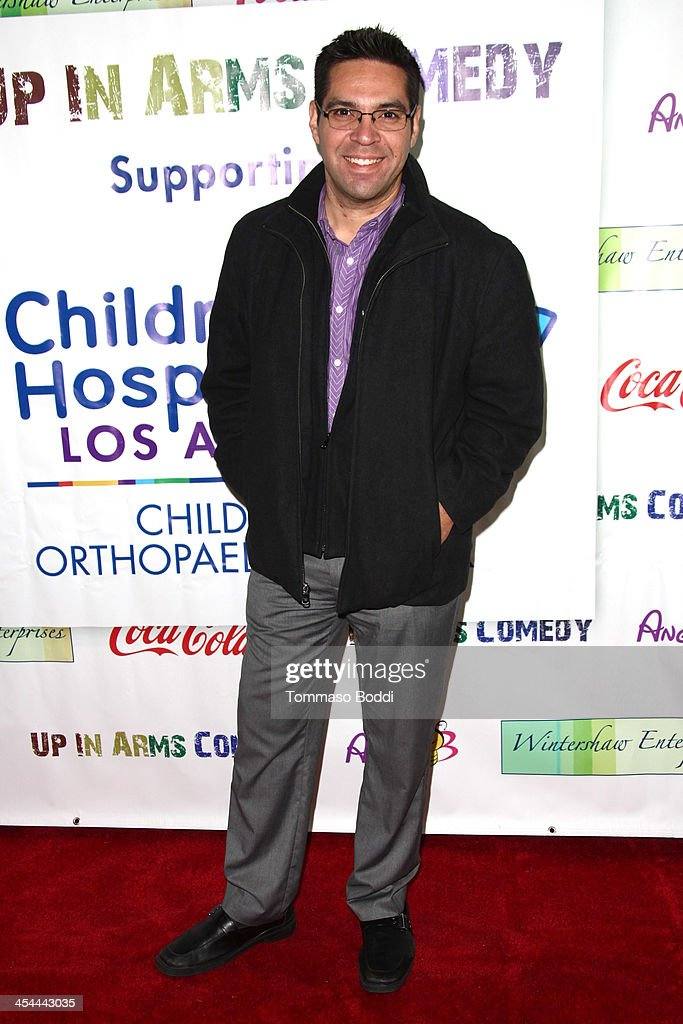 Radio personality Aaron Sanchez attends the 'Up In Arms' comedy fundraiser benefiting Children's Hospital Los Angeles held at Park La Brea Theater on December 8, 2013 in Los Angeles, California.