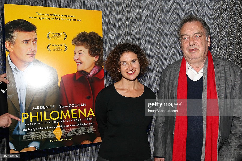 Radio personality Alex Cohen (L) and director Stephen Frears attend the 'Philomena' Town Hall Event and Screening at Museum Of Tolerance on December 19, 2013 in Los Angeles, California.