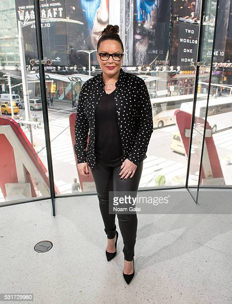 Radio personality Angie Martinez Visits 'Extra' at HM Times Square on May 16 2016 in New York City
