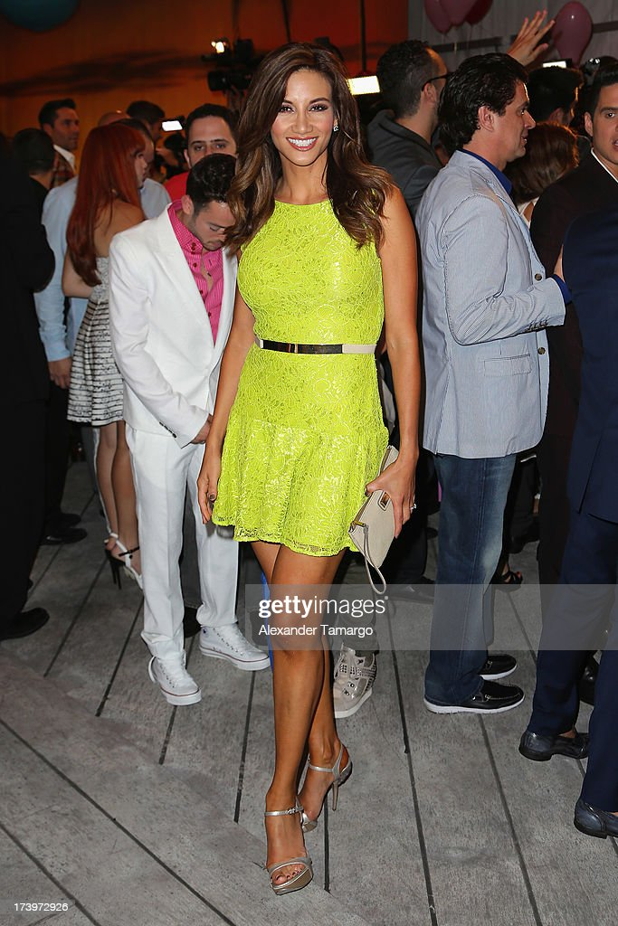 Radio personality Argelia Atilano attends the Premios Juventud 2013 at Bank United Center on July 18, 2013 in Miami, Florida.