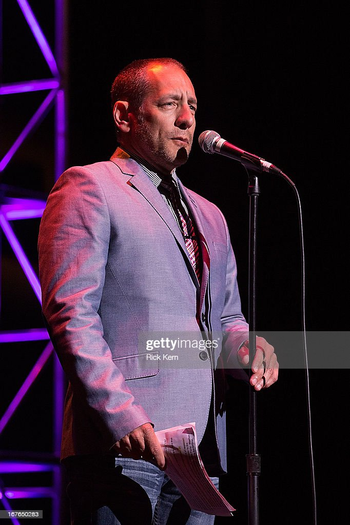 Radio personality Bob Fonseca performs on stage during the Moontower Comedy Festival at the Paramount Theatre on April 26, 2013 in Austin, Texas.