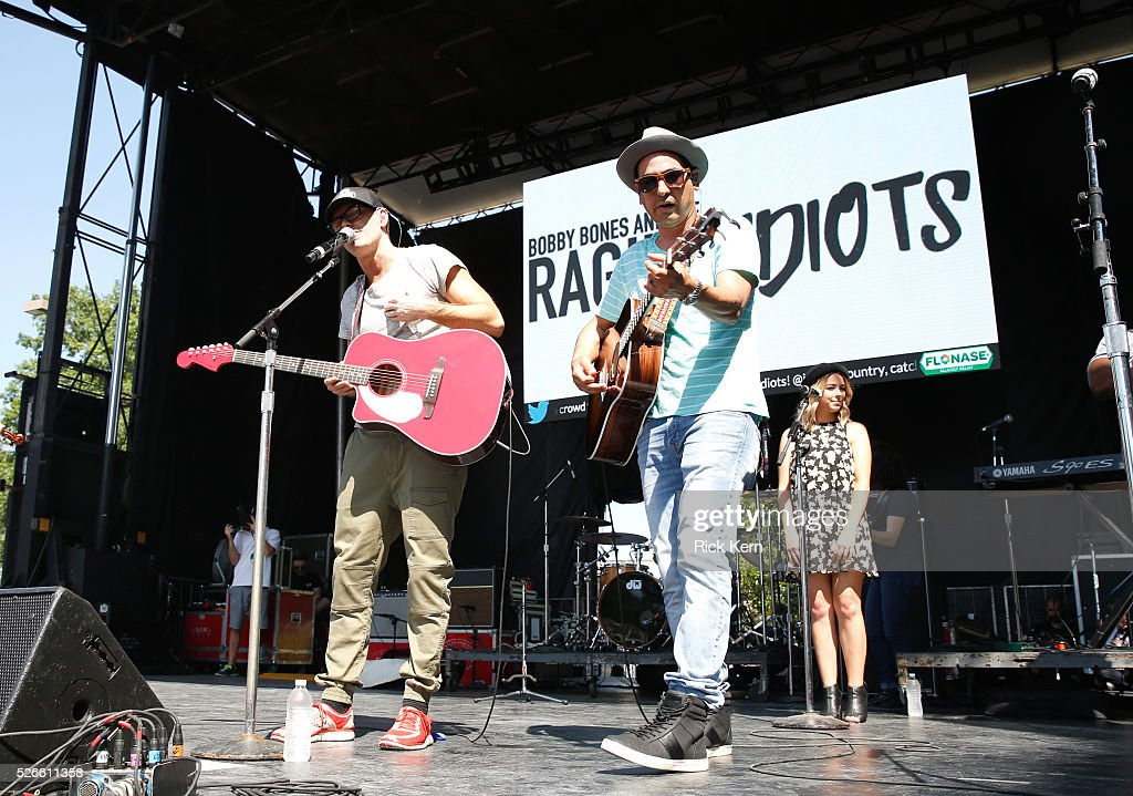 Radio personality <a gi-track='captionPersonalityLinkClicked' href=/galleries/search?phrase=Bobby+Bones&family=editorial&specificpeople=9753112 ng-click='$event.stopPropagation()'>Bobby Bones</a> and Producer Eddie of <a gi-track='captionPersonalityLinkClicked' href=/galleries/search?phrase=Bobby+Bones&family=editorial&specificpeople=9753112 ng-click='$event.stopPropagation()'>Bobby Bones</a> and The Raging Idiots perform live during the 2016 Daytime Village at the iHeartCountry Festival at The Frank Erwin Center on April 30, 2016 in Austin, Texas.