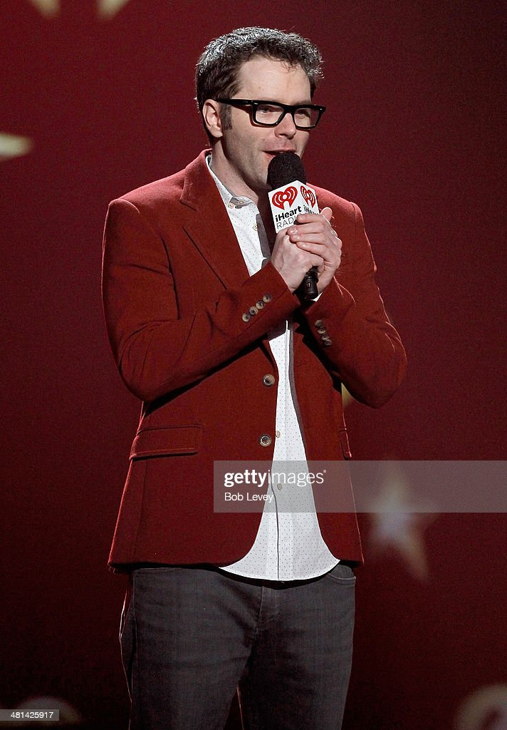 Radio personality Bobby Bones speaks onstage during iHeartRadio Country Festival in Austin at the Frank Erwin Center on March 29, 2014 in Austin, Texas.