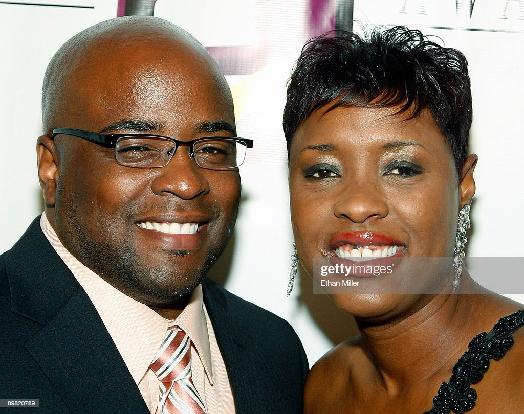 Radio personality Carla Ferrell (R) and her husband Tosh arrive at the seventh annual Hoodie Awards at the Mandalay Bay Events Center August 15, 2009 in Las Vegas, Nevada.