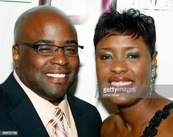 Radio personality Carla Ferrell and her husband Tosh arrive at the seventh annual Hoodie Awards at the Mandalay Bay Events Center August 15 2009 in...