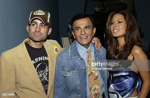 Radio personality Casey Kasem and his children Mike and Kerri arrive at the Golden Dads Awards ceremony at the Peterson Automotive Museum on June 15...