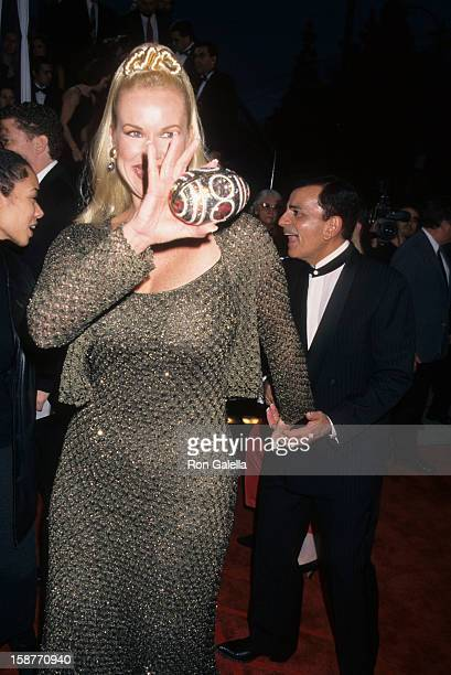 Radio Personality Casey Kasem and wife Jean Kasem attend 12th Annual American Comedy Awards on February 22 1998 at the Shrine Auditorium in Los...